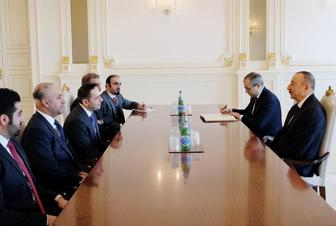 Ilham Aliyev meets delegation led by Qatar's minister