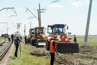 Yevlax-Mingəçevir mənzilində 9,3 dəmir yolu əsaslı təmir olunur
