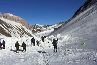 Search for missing mountaineers continues in direction of Azerbaijan's Khinalig village