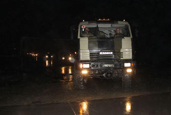 Troops redeployed at night during Azerbaijani Army exercises