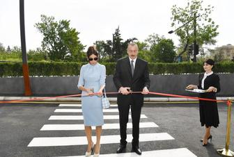 Azerbaijani president, first lady attend opening of new building of Heydar Aliyev Modern Educational Complex (PHOTO)
