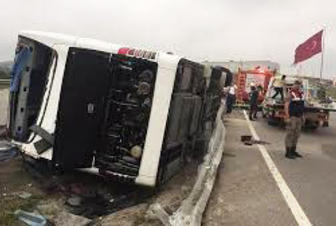 Road accident leaves over 10 wounded in Turkey