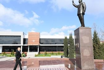 Azerbaijani President arrives in Beylagan district for visit