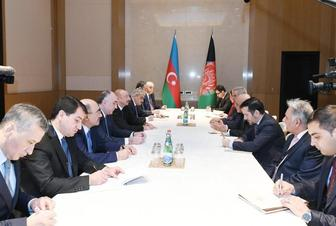 Azerbaijani president meets with Afghan counterpart