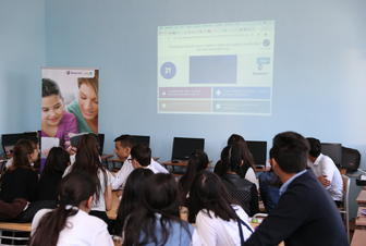 With the support of Azercell training sessions on cyber security were organized for schoolchildren in Guba